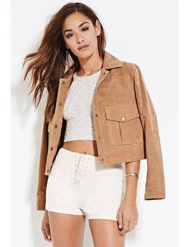 Faux Suede Lace Up Shorts by Forever 21