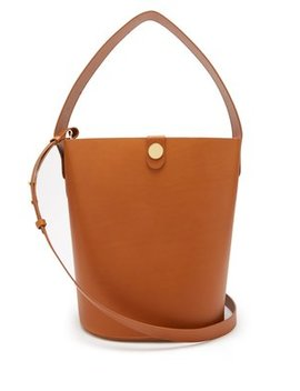 Large Swing Leather Bucket Bag by Sophie Hulme