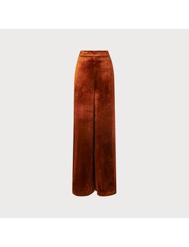 Noemi Rust Velvet Pants by L.K.Bennett