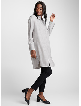 Heather Grey Shirt Tunic by Contemporaine