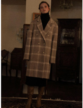 Lv Check Double Coat Gray by Lartigent