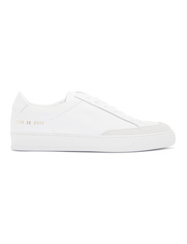 White Tennis Pro Sneakers by Common Projects