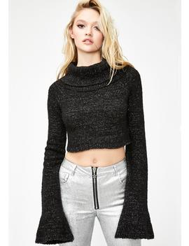 Electric Charge Cropped Sweater by Current Mood