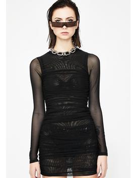 Wake Up Call Sheer Dress by Hot Delicious