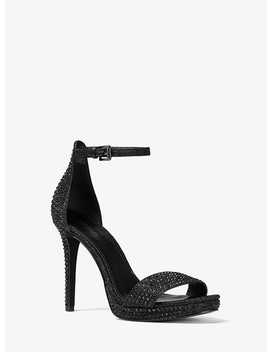 Hutton Embellished Chain Mesh Sandal by Michael Michael Kors