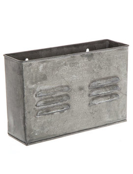 Rectangular Galvanized Metal Wall Organizer by Hobby Lobby