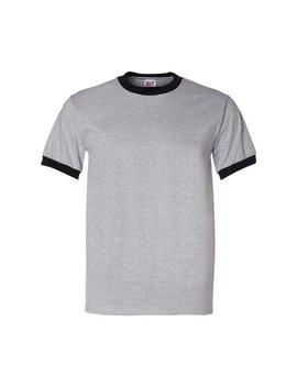 Anvil Heavyweight Ringer T Shirt by Anvil