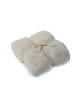 """Barefoot Dreams Cozy Chic Throw   Cream 54"""" X 72"""" by Barefoot Dreams"""