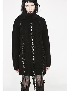 Zora Lace Up Knit Sweater by Killstar
