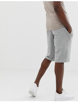 Nike Tall Club Swoosh Jersey Shorts In Grey 804419 063 by Nike