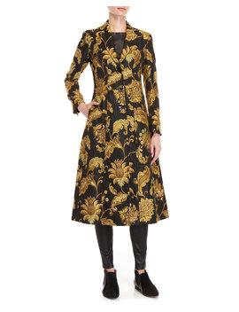 Paisley Jacquard Long Coat by Derek Lam
