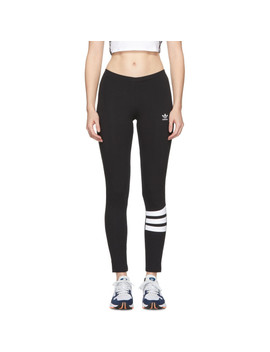 Black Logo Leggings by Adidas Originals