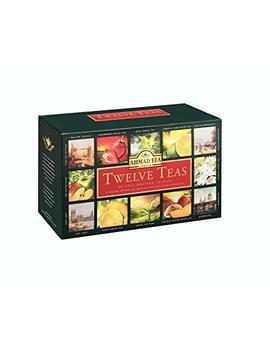 Ahmad Tea Twelve Teas Variety Gift Box, 60 Foil Enveloped Teabags by Ahmad Tea