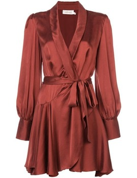 Satin Wrap Mini Dress by Zimmermann