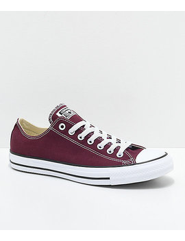 Converse Chuck Taylor All Star Ox Burgundy & White Shoes by Converse