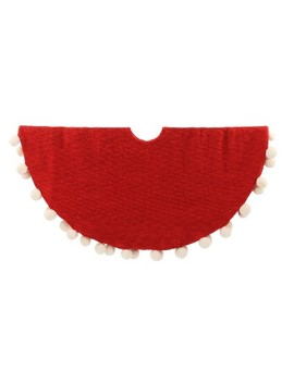 Pom Pom Christmas Tree Skirt Red   Wondershop™ by Shop Collections