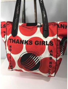 "Stella Mc Cartney ""Shopper Red"" ""Thanks Girl"" Splashed Over Size Polka Dot Tote by Stella Mc Cartney"