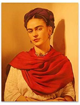 Lone Star Art Frida Kahlo Warm Portrait   11x14 Unframed Print   Perfect Southwest Home Decor by Lone Star Art