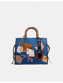 Rogue With Patchwork And Snakeskin Handles by Coach