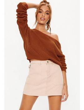 Auburn Off Shoulder Sweater by Missguided