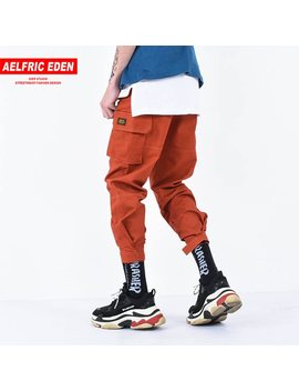 Aelfric Eden Casual Cargo Pants Men Brand Clothing Feet Sweatpants Male Stretch Pockets Hip Hop Orange Ankle Length Joggers Kt65 by Aelfric Eden