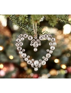 Jeweled Heart Ornament by Pottery Barn