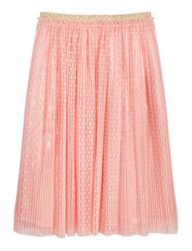 Big Girls Dot Mesh Pleated Skirt, Created For Macy's by Epic Threads