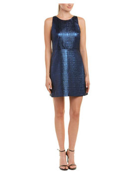 Milly Jewel Neck Wool Blend Sheath Dress by Milly