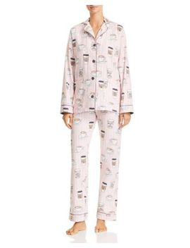 Rise & Grind Coffee Print Cotton Pajama Set by Pj Salvage