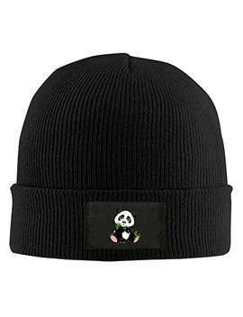 Wlf Unisex Pandas Eat Bamboo Fashion Warmth Four Colors Beanie Hats Skull Cap by Wlf