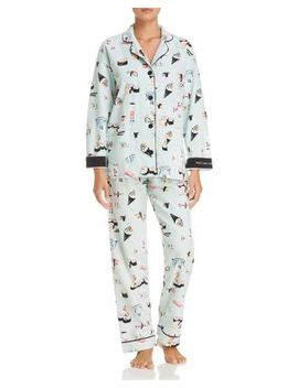 That's How I Roll Sushi Print Flannel Cotton Pajama Set by Pj Salvage