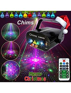 Chims Dj Laser Lights Projector Red Green Blue Laser With Led 96 Patterns Rgrb Color Decoration Lighting System For Family Party Dj Disco Music Show Bar Club Stage Xmas (4 Lens Rgrb 96 Patterns) by Chims