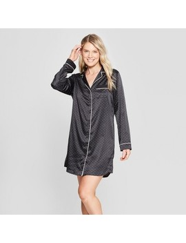 Women's Satin Nightgown   Gilligan & O'malley™ Black by Shop This Collection