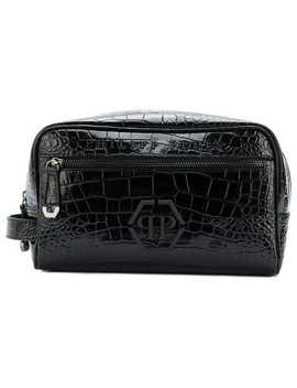 Logo Wash Bag by Philipp Plein
