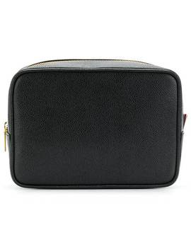 Pebble Grain Leather Wash Bag by Thom Browne