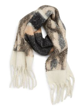 Leopard Stripe Knit Scarf by Bp.