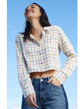 Ps / La Cropped Flannel Shirt by Pacsun