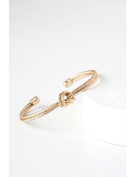 Knot It Gold Knotted Bracelet by Lulus