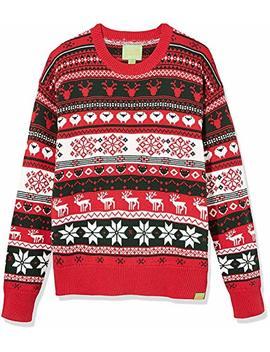 Ugly Fair Isle Unisex Crew Neck Long Sleeve Jacquard Animal Allover X'mas Sweater by Ugly+Fair+Isle