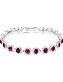 Angelic Bracelet, Medium, Red, Rhodium Plating by Swarovski