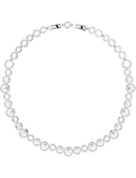 Creativity Necklace, White, Rhodium Plating by Swarovski