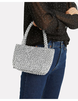 Mina Beaded Silver Bag by Loeffler Randall