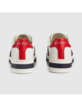 Children's Ace Leather Platform Sneaker by Gucci