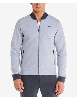 Men's Premium Full Zip Fleece Sweatshirt by Lacoste