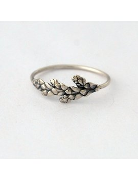 Dainty Cedar Ring Sterling Silver Botanical Ring Made To Order by Etsy