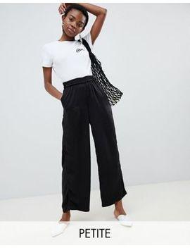 Vero Moda Petite Wide Leg Pants With Elasticated Waist by Vero Moda Petite