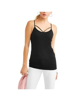 Juniors' Caged Front Strap Cami by No Boundaries