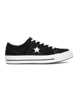 Black Suede One Star Vintage Sneakers by Converse
