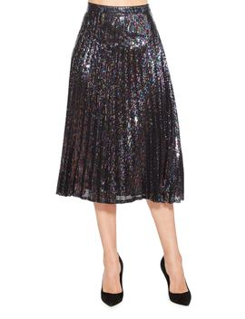 Citrine Sequin Skirt by Parker
