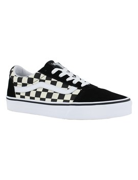 Women's Ward Blk/Wht Checker Lace Up Sneakers by Vans